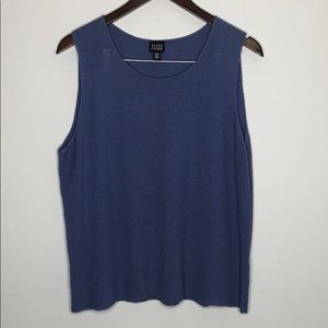 EILEEN FISHER Top Periwinkle Large